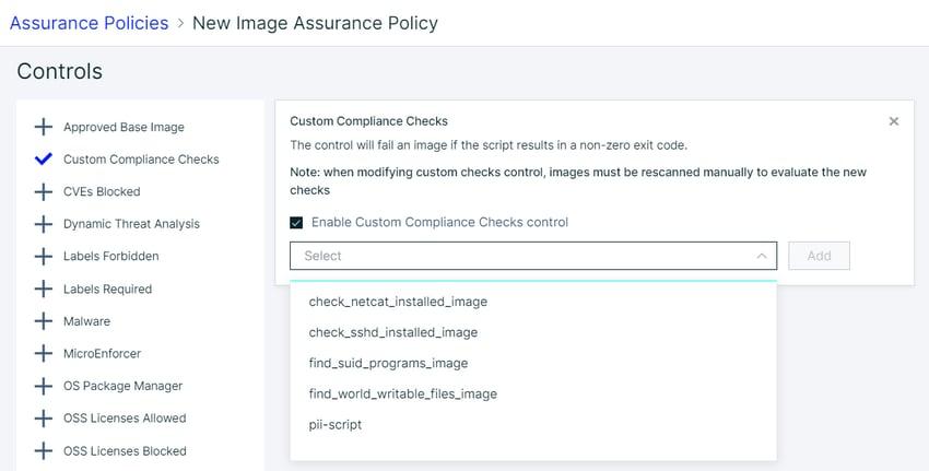 3 - custom compliance checks