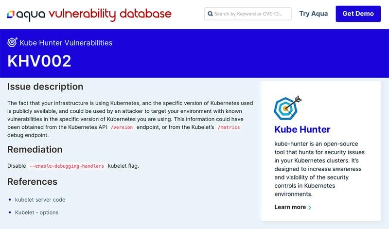 Kubernetes Vulnerabilities