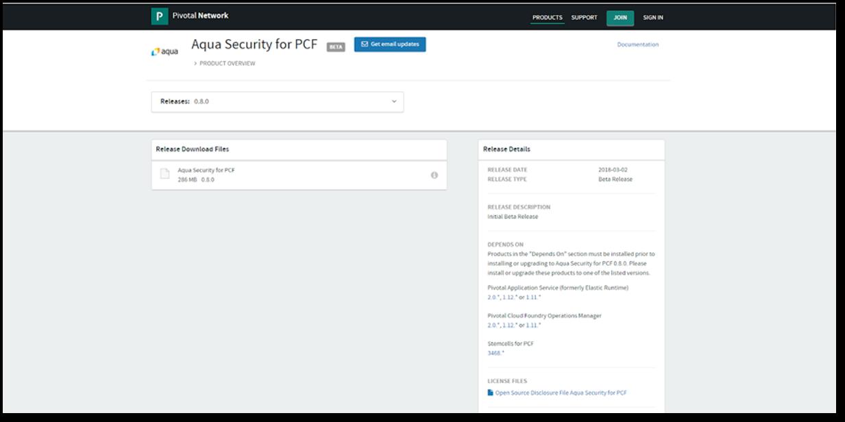 pivotal cloud foundry aqua security secure applications