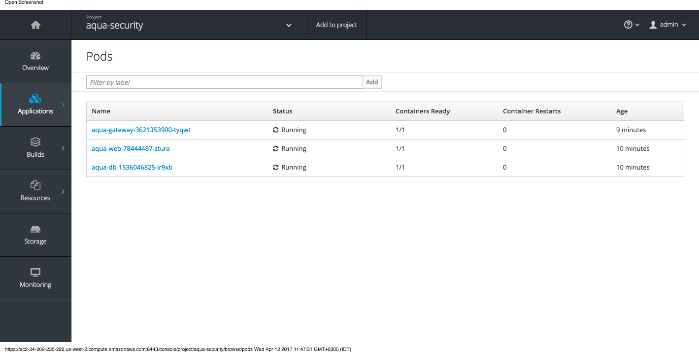 Openshift step 2 - verify pods.png