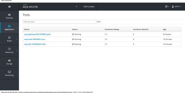 Openshift step 2 - verify pods.png