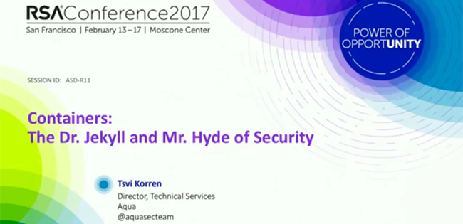 RSAC 2017 container security