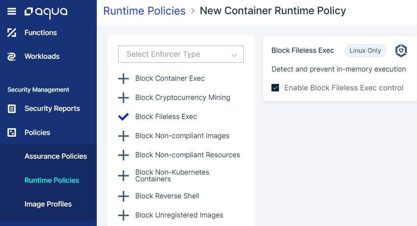 filelessexec_runtimepolicy