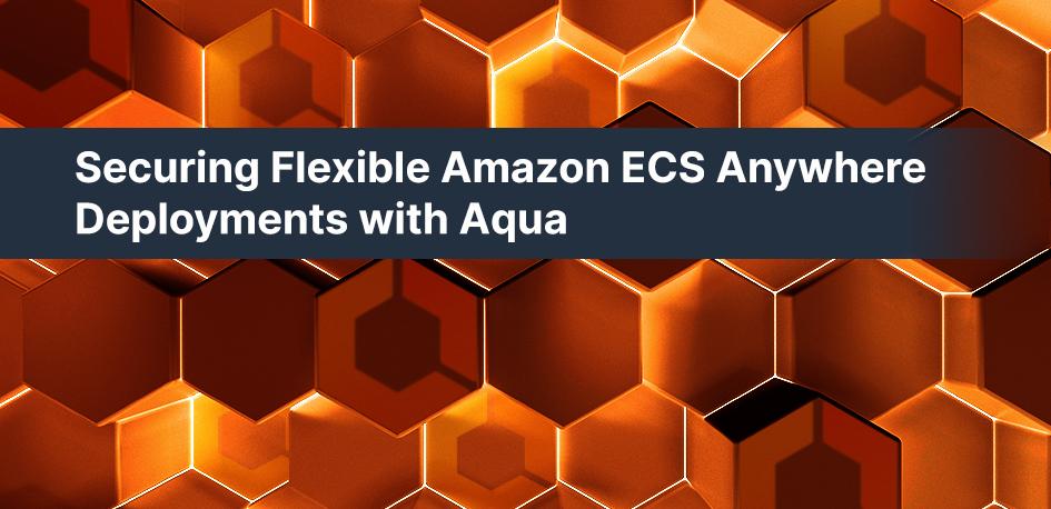 Securing Flexible Amazon ECS Anywhere Deployments with Aqua